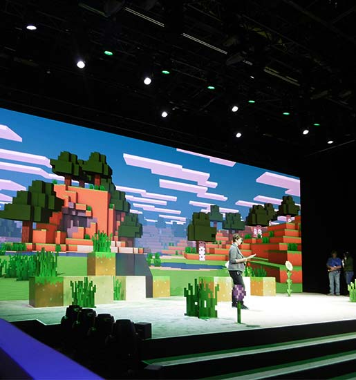 minecraft minecon stage